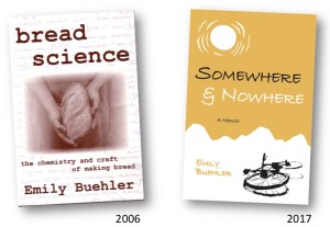 covers of books Bread Science and Somewhere and Nowhere