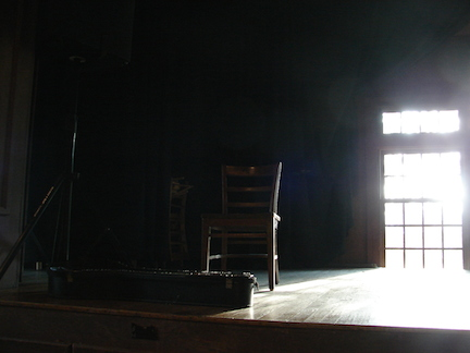 The stage in the community room