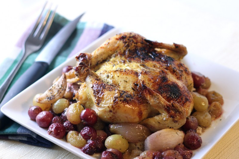 Cornish Hen with Roasted Grapes