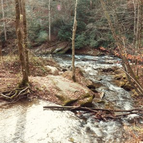 Indian Creek flowing into Deep Creek