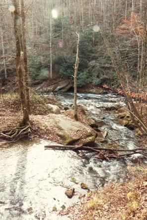Indian Creek flowing into Deep Creek