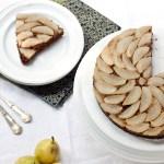 Pear Upsidedown Gingerbread Cake