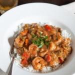 Lighter Shrimp Étouffée