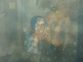"Family Portrait - 9"" x 12"", cyanotype on watercolour paper, 2009"