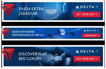 Delta Airlines Switching Sky Scraper Banner Advert
