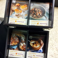 Sainbury's Recipe Card stand in store