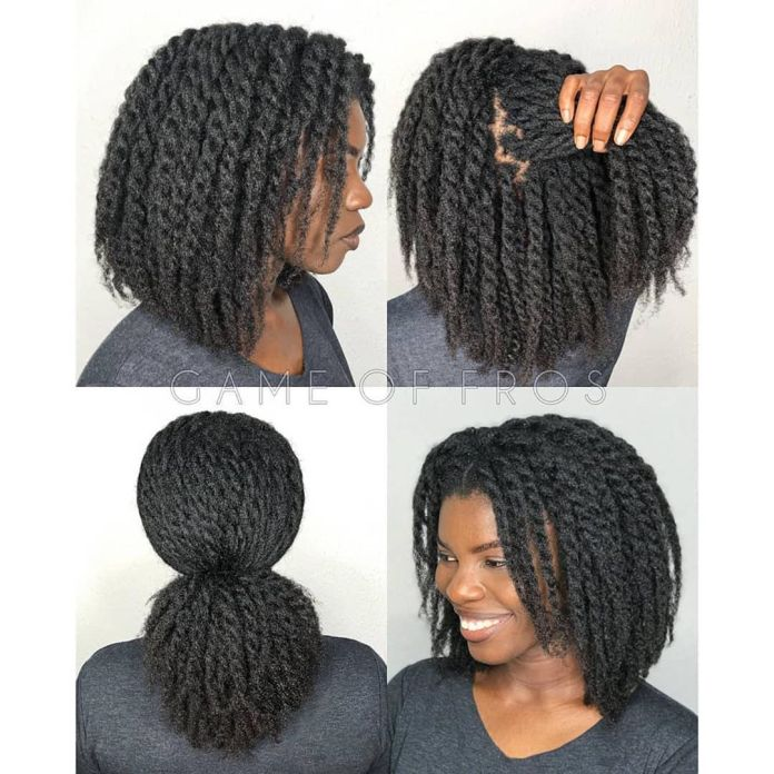 loose twists for length retention