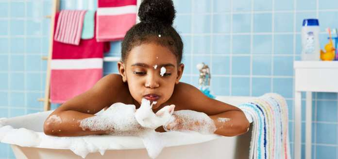 child's hair care routine
