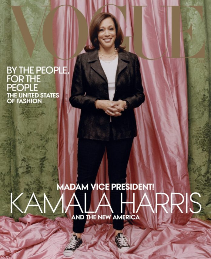 Kamala Harris on the cover of Vogue