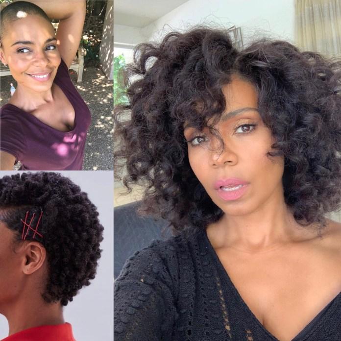 Sanaa Lathan hair growth journey