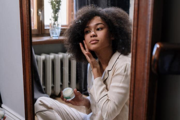 Black woman harmful skincare habits