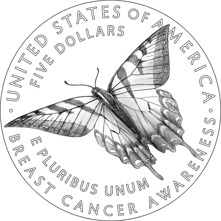 breast cancer coin design