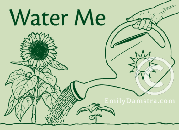 Water Me illustration