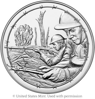 World War 1 Centennial Army medal