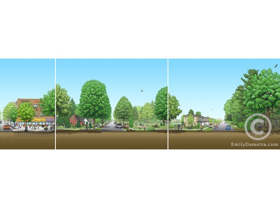 urban forest illustration