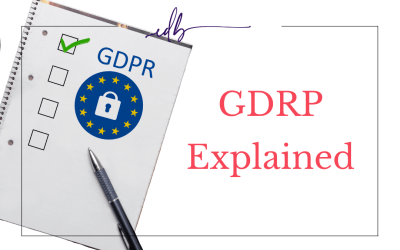GDPR Explained. What is it and does it apply to your site?