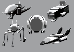 Space Ship Renders