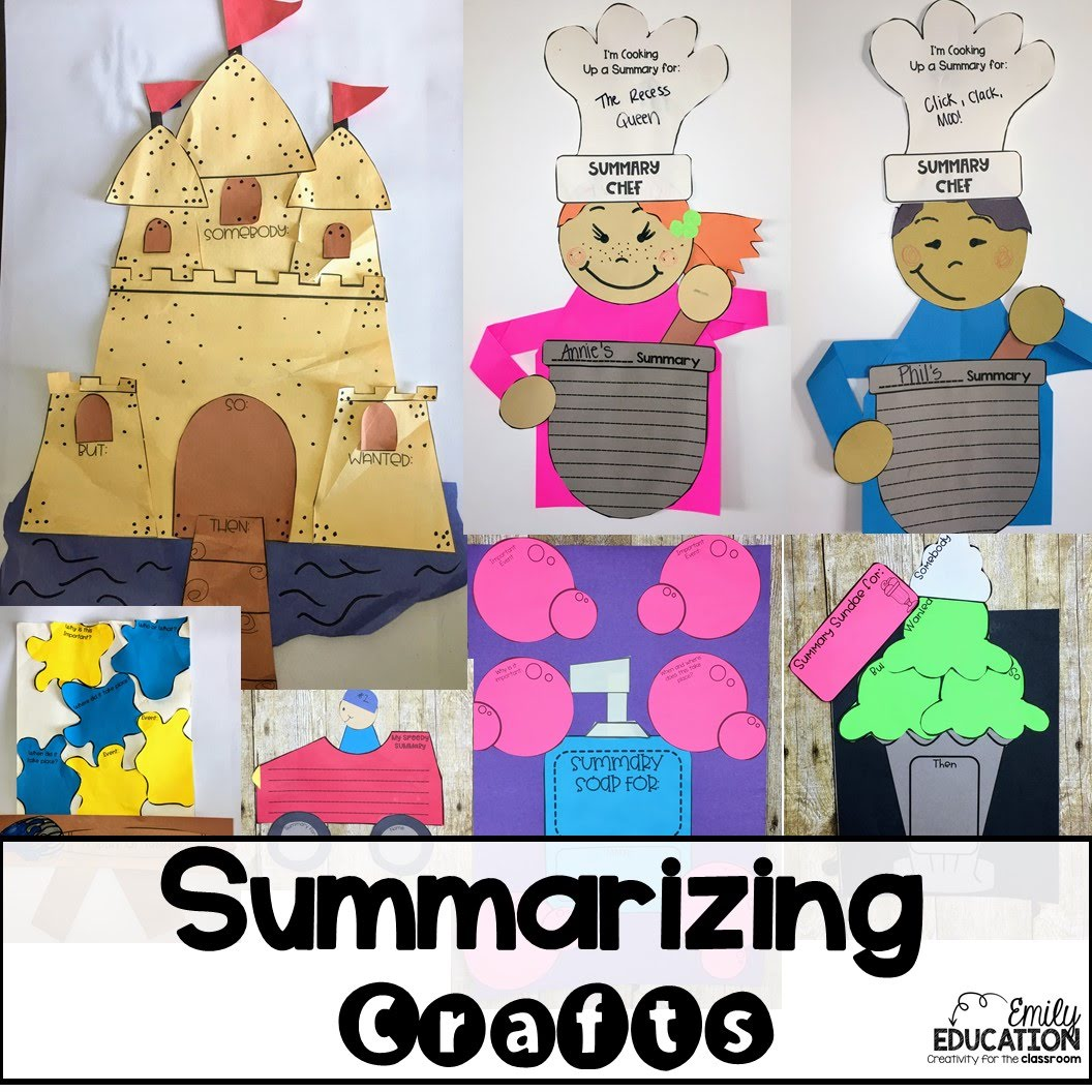 Summarizing Activities Crafts Posters And Worksheets