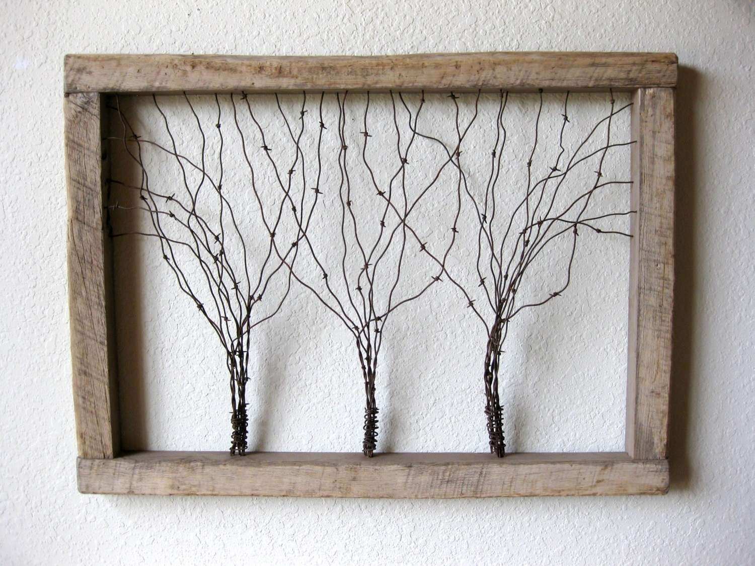 1f345210492 Metal Wood Wall Art Best Of Reclaimed Barn Wood And Barbed Wire Tree ...