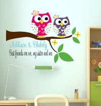 Wall Decor Decal Fresh Owl Decal Sisters Wall Decal with ...