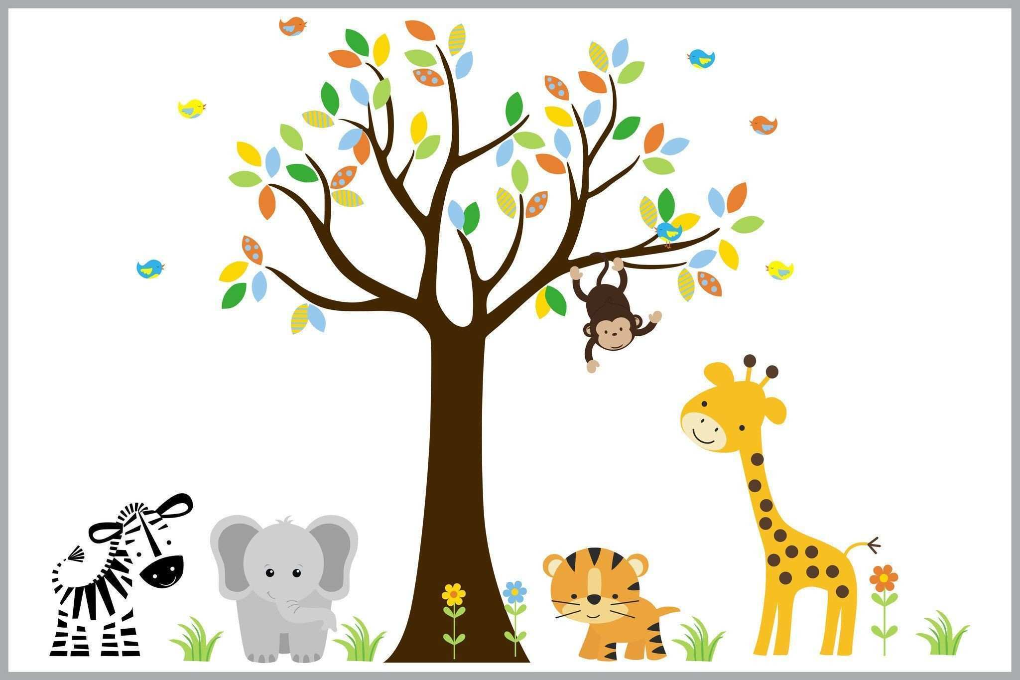 Animal Print Wall Stickers Beautiful Safari Animal Nursery