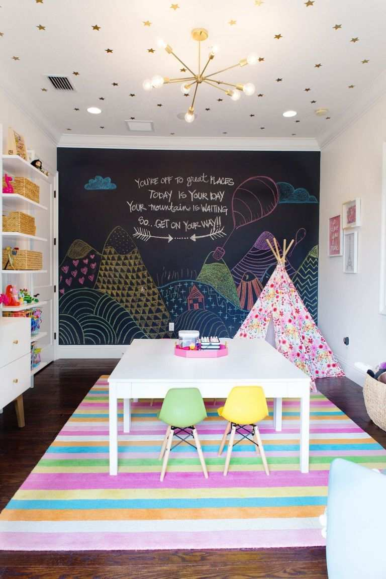 how to decorate a large living room with little furniture paint color for small rooms wall elegant kids decor ideas girl things pinterest