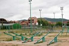 Empty park in Novi Pazar.