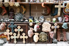 Sculptures for sale in Old Town State Park, a tourist attraction and historical site celebrating San Diego's hispanic roots.