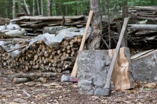All the firewood must be chopped by hand.