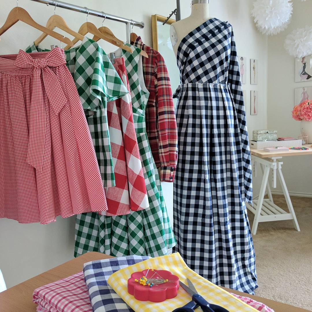 Playing with all the gingham and plaid and checked fabricshellip