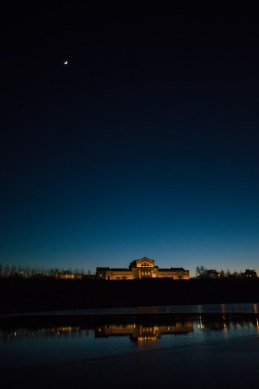 January 14-The Art Museum in Forest Park in Saint Louis at night.