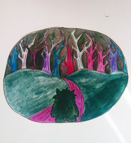 Forest with fine liners