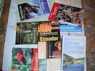 Ecuador books and map