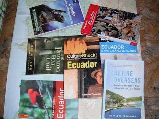 Ecuador books and map