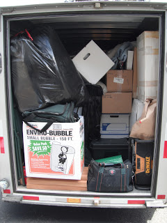 Uhaul with remaining belongings