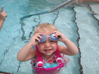 Lexi swimming