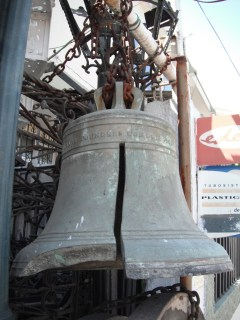 Bell with large cut