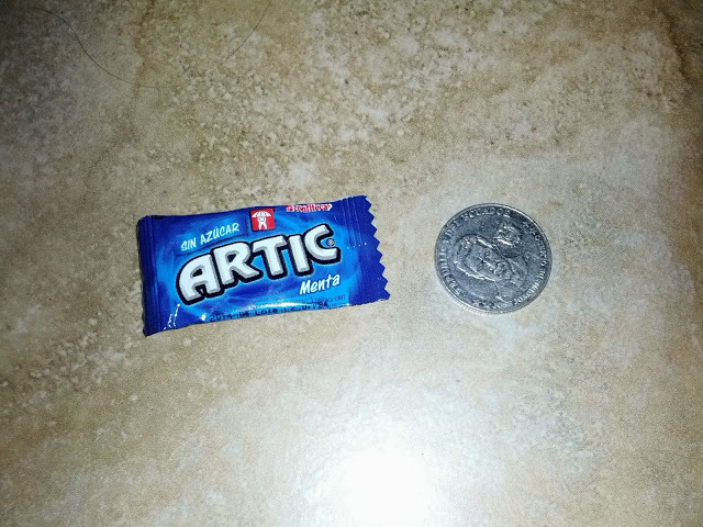 Gum and a quarter given for $.30 change