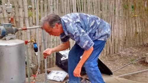 Testing water filter installation