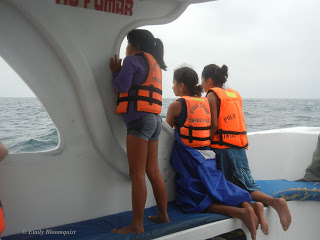 Orphanage girls whale watching