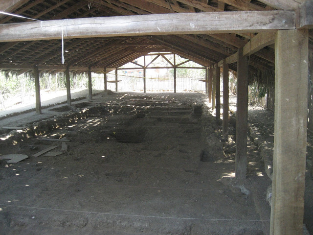Roof over archaeology site