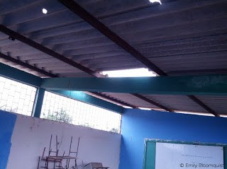 Holes in classroom roof