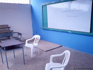 Roofing materials in classroom
