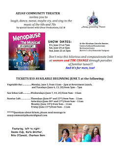Menopause The Musical flyer