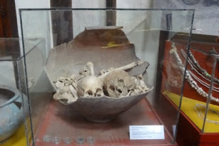 Human remains in urn