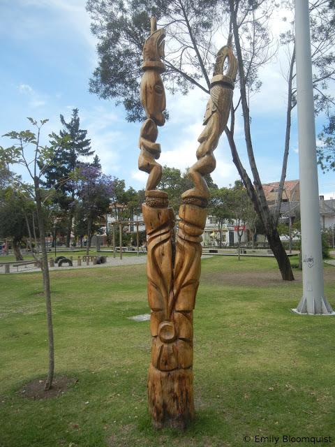 Tree stump art - Cuenca, Ecuador