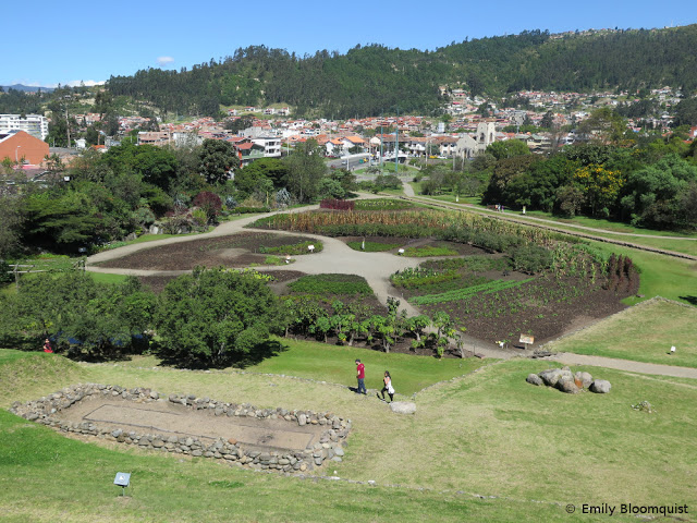 Inca gardens in cloverleaf shape