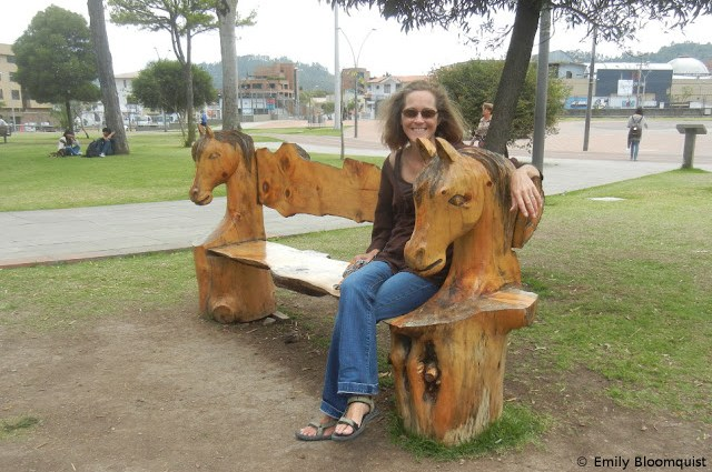 Tree stump art - Cuenca, Ecuador