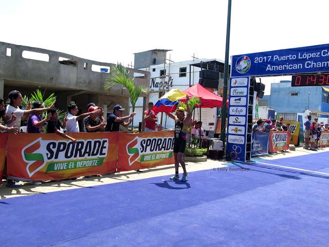 Triathlon finish line