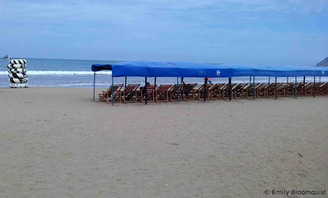 Puerto Lopez beach when empty